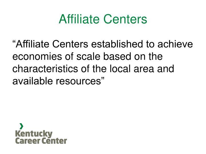 Affiliate Centers
