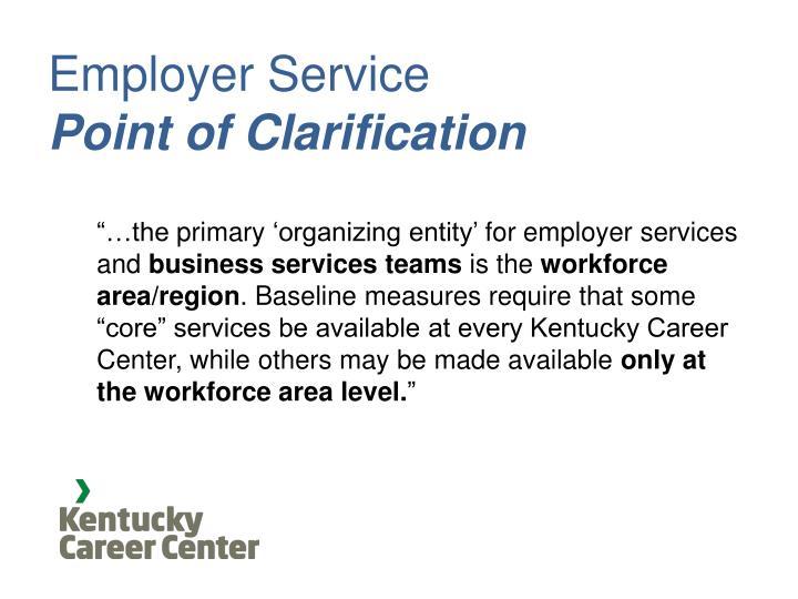 Employer Service