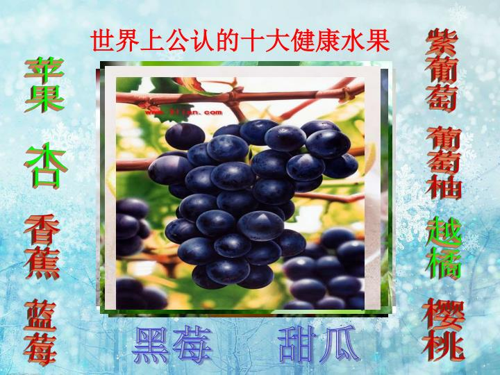 世界上公认的十大健康水果