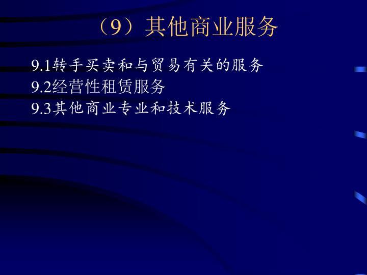 (9)其他商业服务