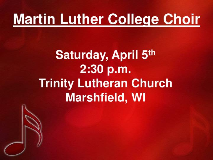 Martin Luther College Choir