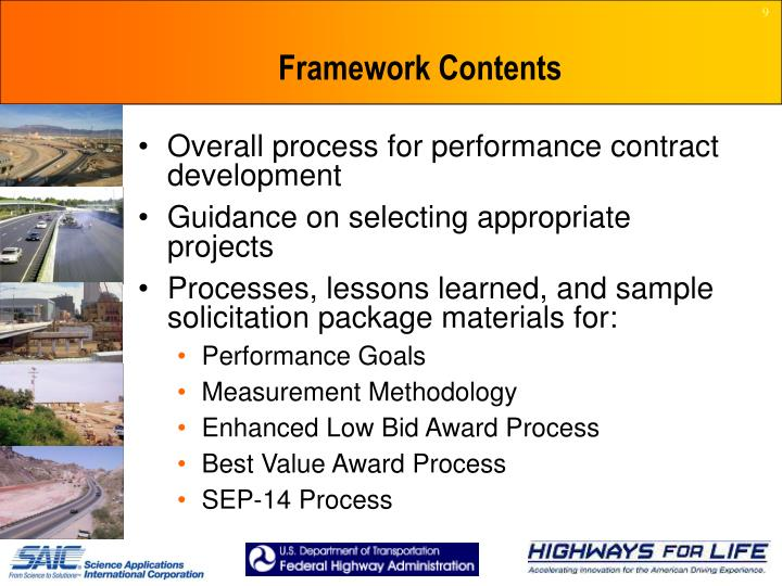 Framework Contents