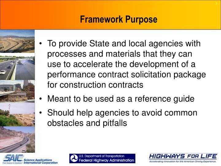 Framework Purpose