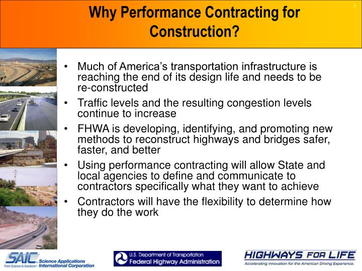 Why Performance Contracting for Construction?