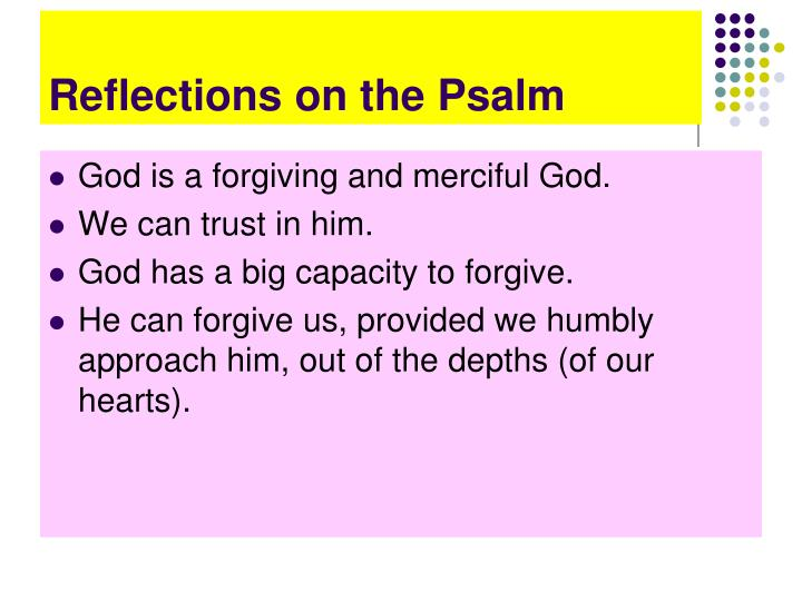 Reflections on the Psalm