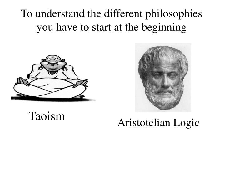 To understand the different philosophies you have to start at the beginning