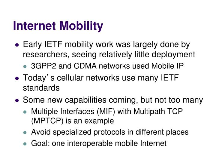 Internet Mobility
