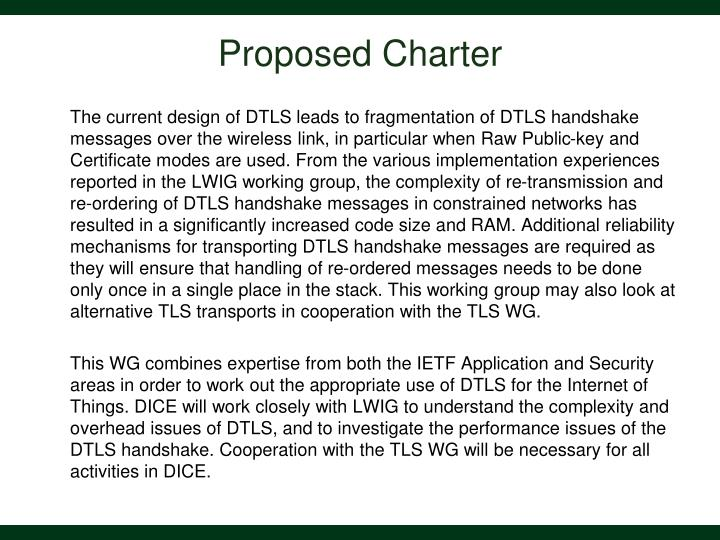 Proposed Charter