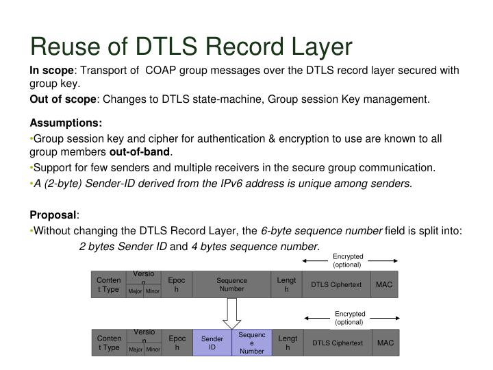 Reuse of DTLS Record Layer