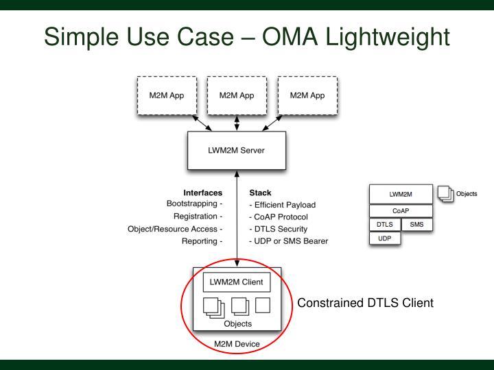 Simple Use Case – OMA Lightweight