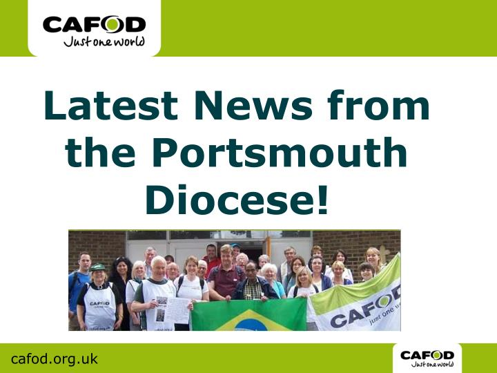 Latest News from the Portsmouth Diocese!