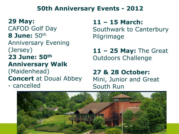 50th Anniversary Events - 2012
