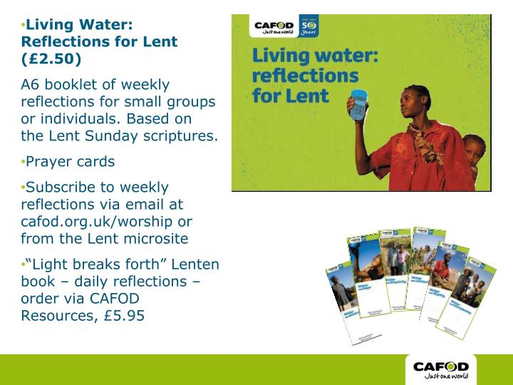 Living Water: Reflections for Lent (£2.50)