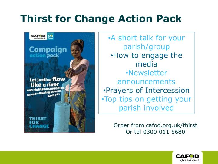 Thirst for Change Action Pack