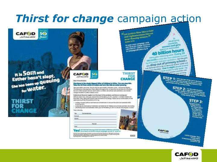 Thirst for change
