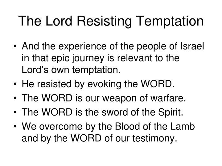 The Lord Resisting Temptation