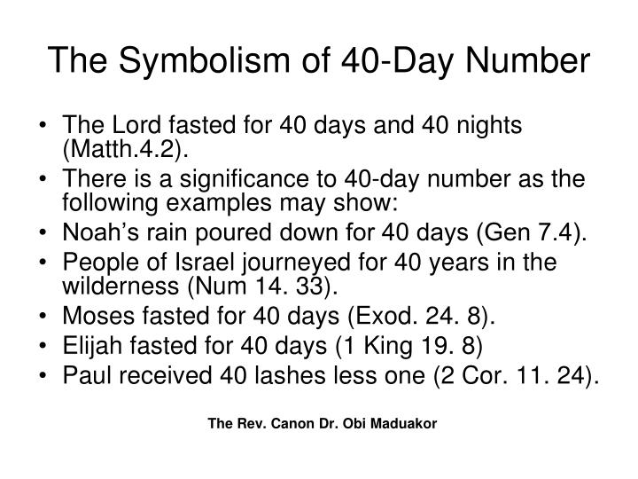 The Symbolism of 40-Day Number