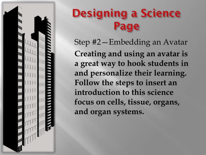 Designing a Science Page