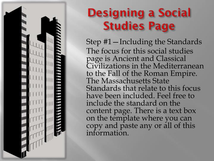 Designing a Social Studies Page