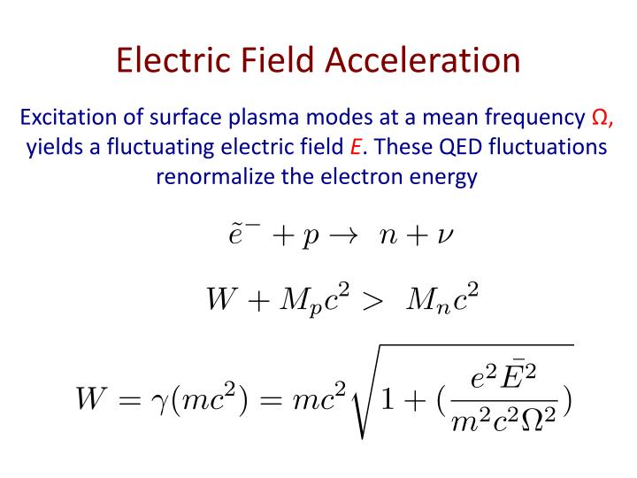 Electric Field Acceleration