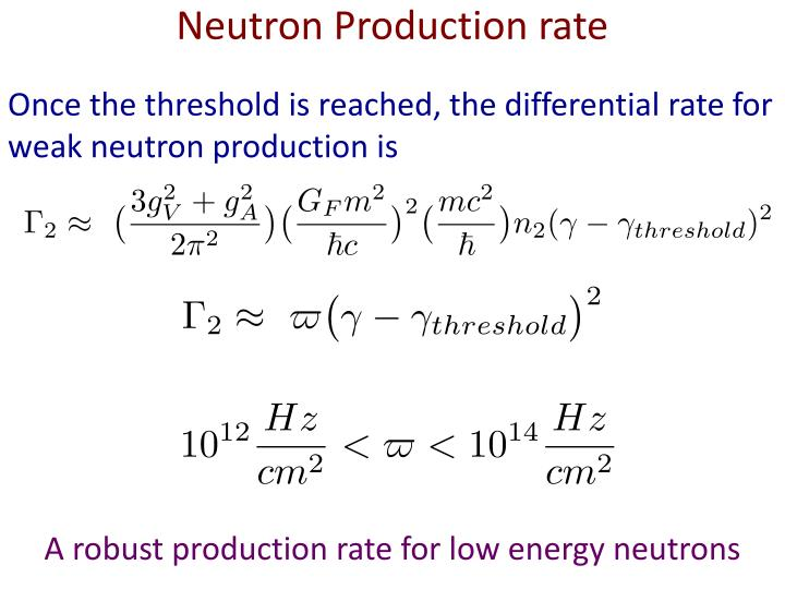 Neutron Production rate