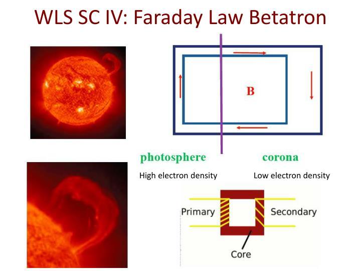 WLS SC IV: Faraday Law Betatron