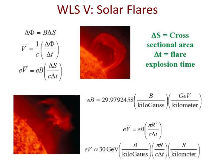 WLS V: Solar Flares