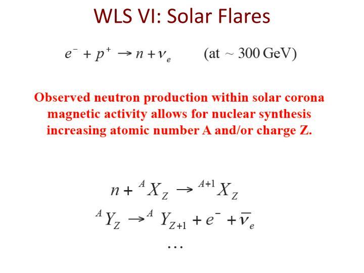 WLS VI: Solar Flares