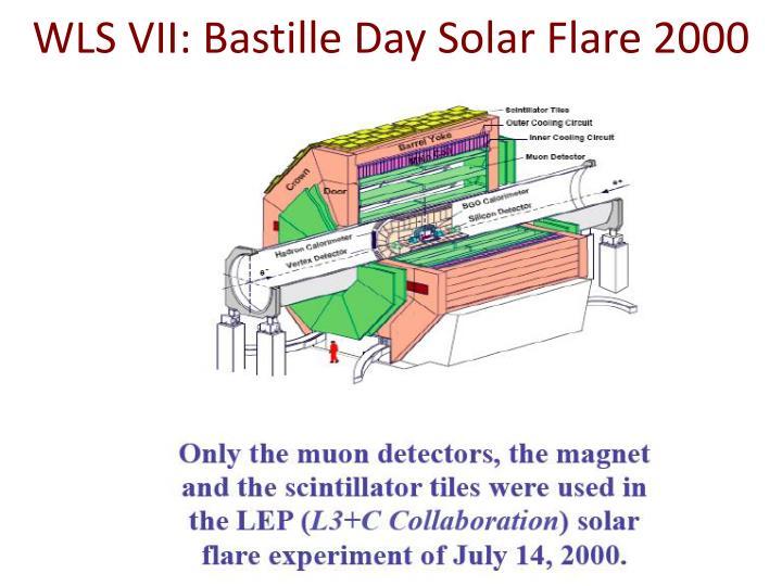 WLS VII: Bastille Day Solar Flare 2000