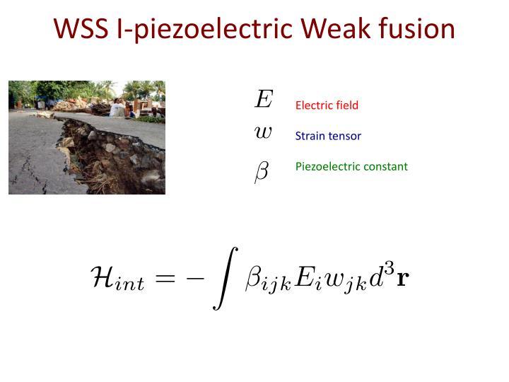 WSS I-piezoelectric Weak fusion