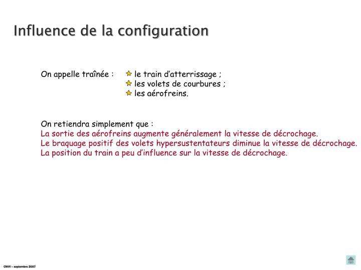 Influence de la configuration
