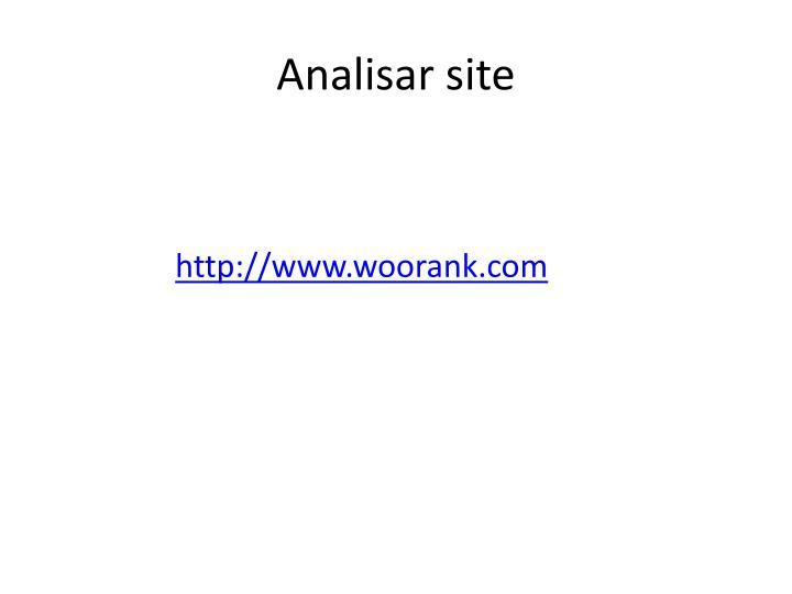 Analisar site