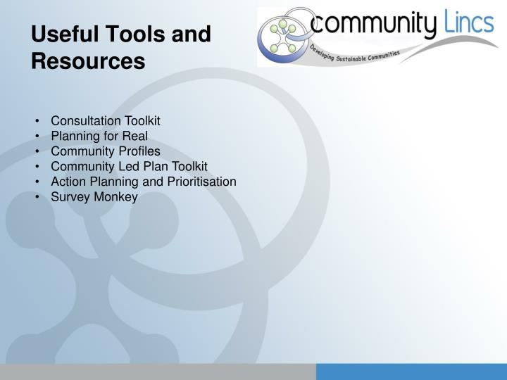 Useful Tools and Resources