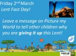 friday 2 nd march lent fast day