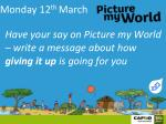 monday 12 th march