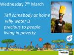 wednesday 7 th march