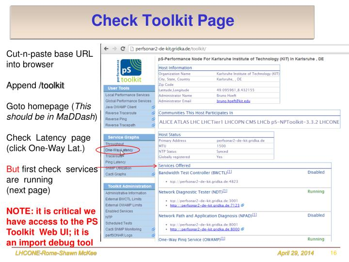 Check Toolkit Page