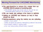 moving forward for lhc one monitoring