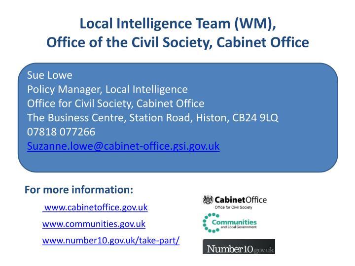 Local Intelligence Team (WM),
