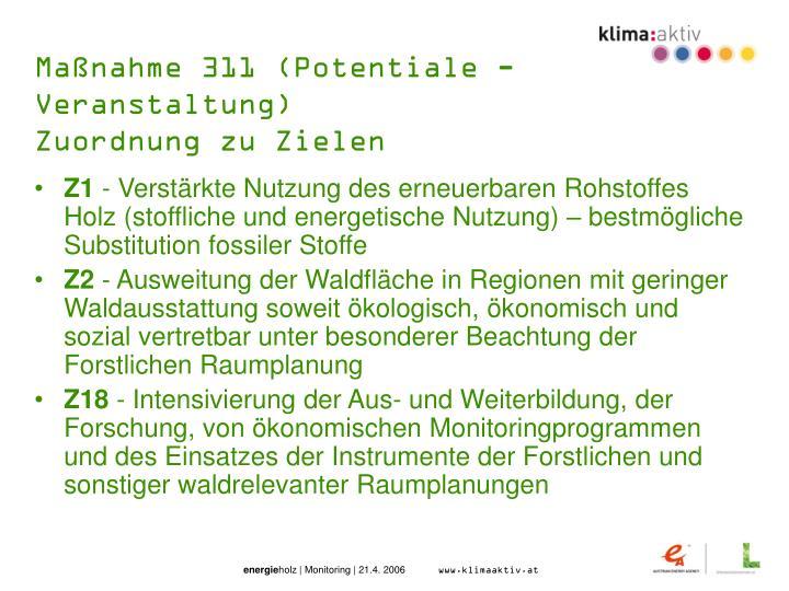 Maßnahme 311 (Potentiale - Veranstaltung)