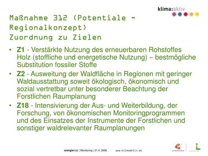 Maßnahme 312 (Potentiale - Regionalkonzept)