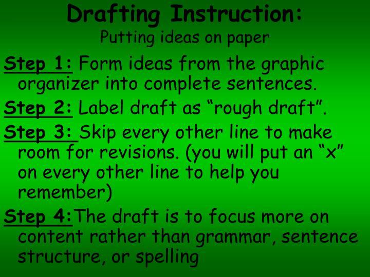 Drafting Instruction: