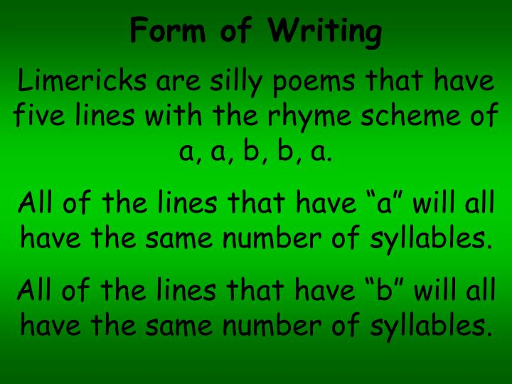 Form of Writing
