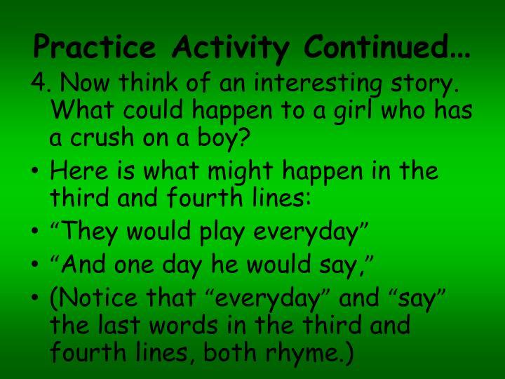 Practice Activity Continued