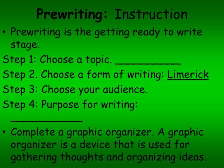 Prewriting:
