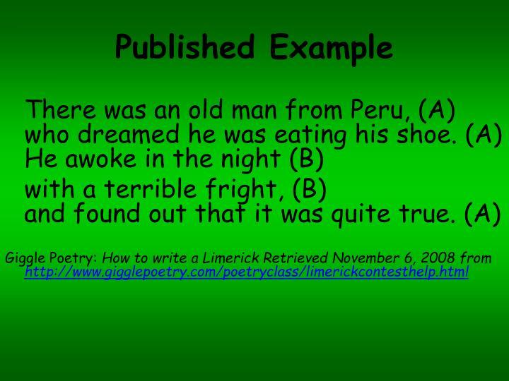 Published Example