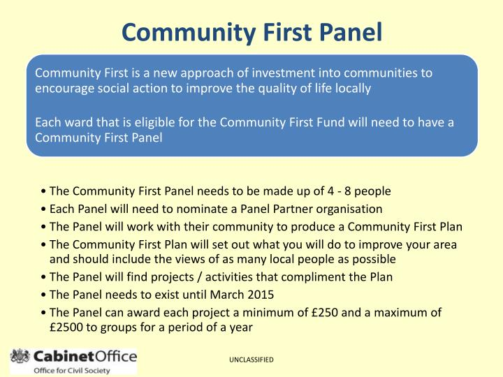Community First Panel