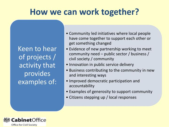 How we can work together?