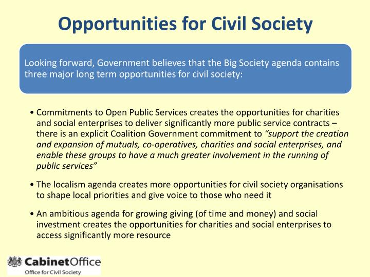 Opportunities for Civil Society