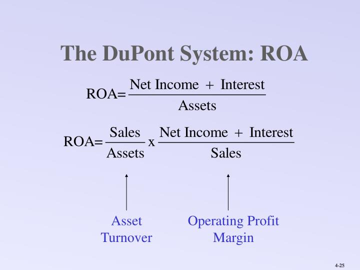 The DuPont System: ROA